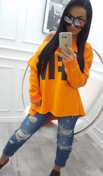 Oranžová mikina