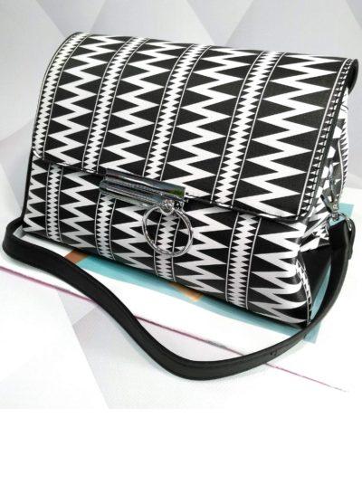 Čierno biela kabelka