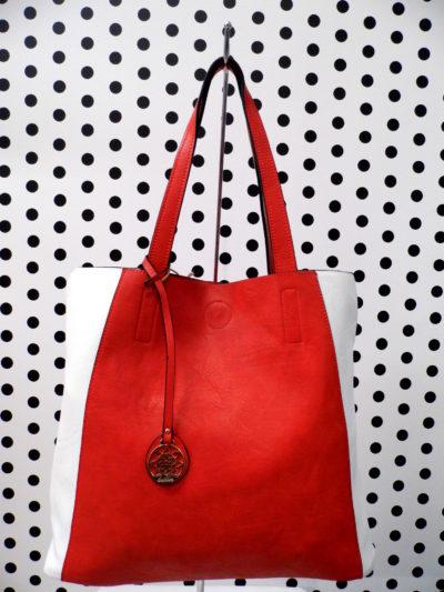 Červeno biela kabelka