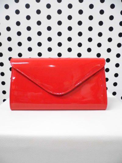 Červená listová kabelka