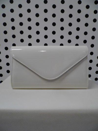Biela listová kabelka