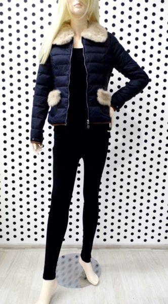 Modrá prechodná bunda