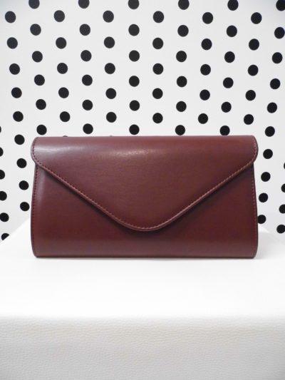 Bordová listová kabelka