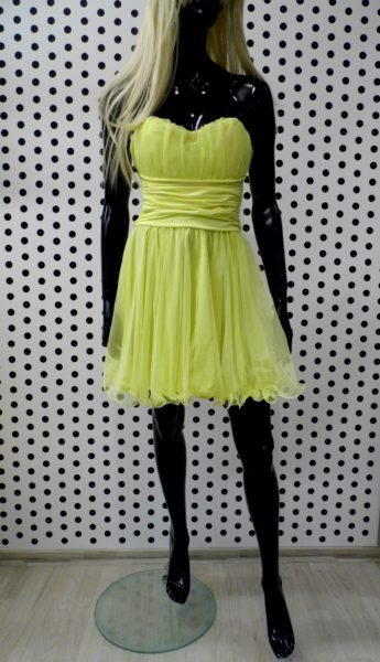 Žlté krátke šaty
