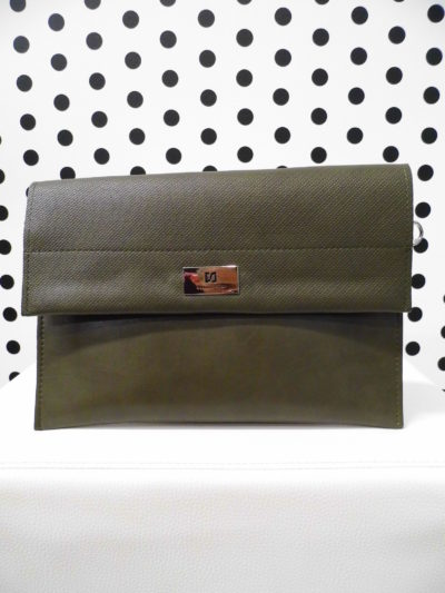 Tmavozelená listová kabelka