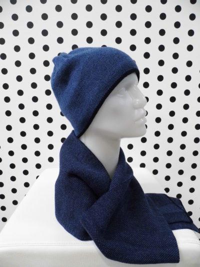 Bavlnená čiapka so šálom