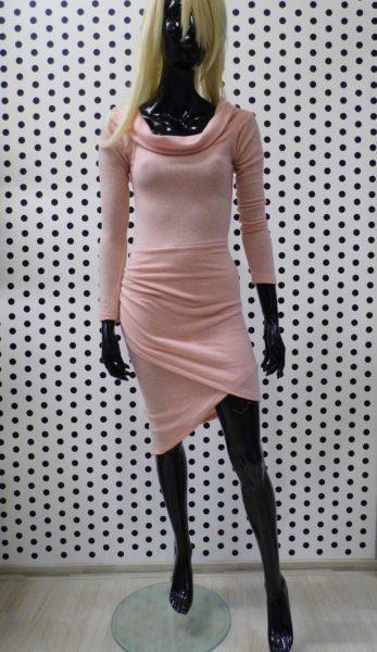 Ružové svetríkové šaty