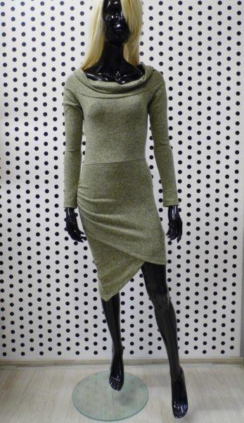Zelené svetríkové šaty