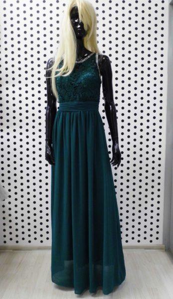 Tmavo zelené nadrozmerné šaty