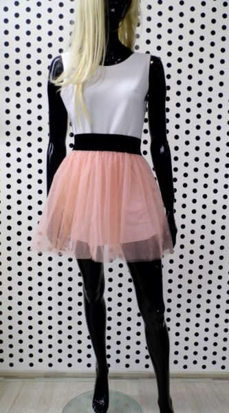 Krátka béžová sukňa
