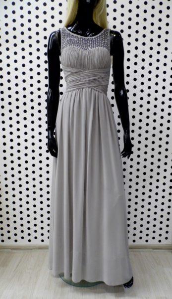 Sivé spoločenské šaty