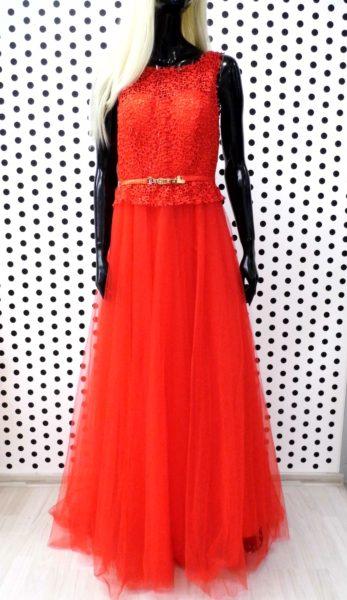 Červené šaty Melinda