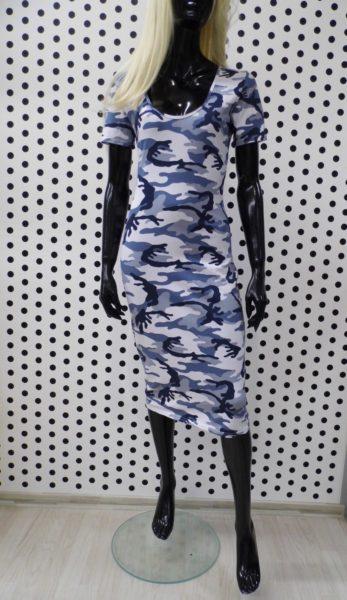 Šaty modrý maskač