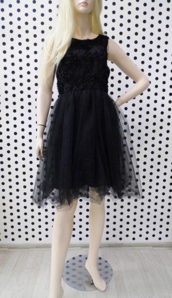 Kvetinkové šaty Black