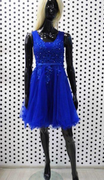 Modré spoločenské šaty