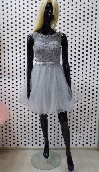Sivé kvetinkové šaty