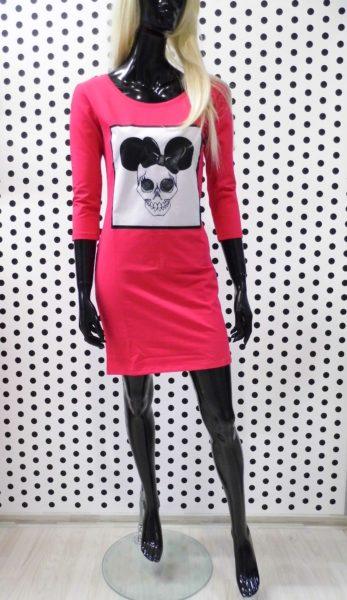 Ružové Miky šaty