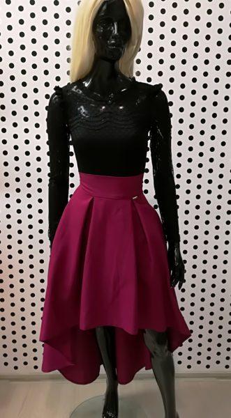 Asymetrická sukňa