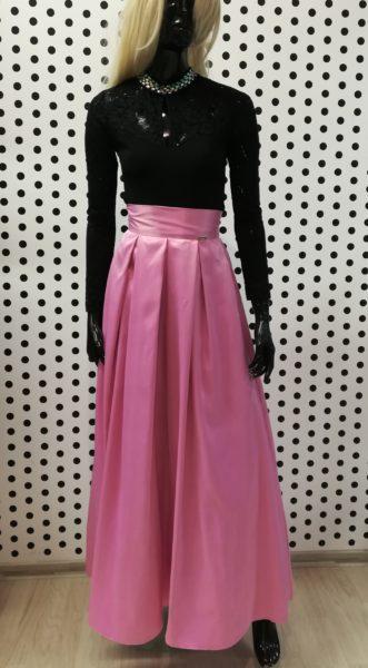 Saténová sukňa