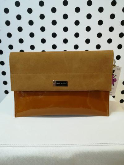 Hnedá listová kabelka