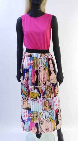 Komixová sukňa