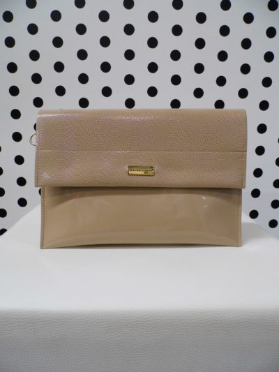 Krémová listová kabelka